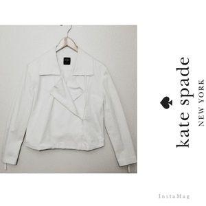 SALE💖kate spade♠️ White Denim Moto Style Jacket